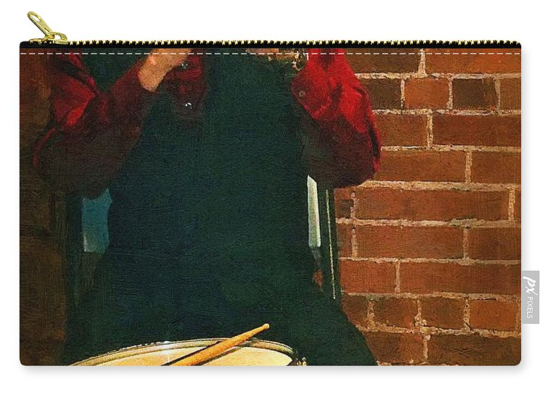 Musician Carry-all Pouch featuring the painting Trumpet Solo by RC DeWinter