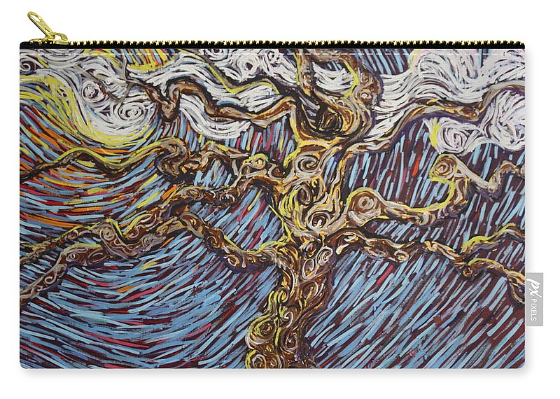 Landscape Carry-all Pouch featuring the painting Trunk Of A Tree by Stefan Duncan