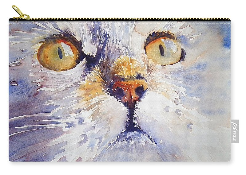 Cat Carry-all Pouch featuring the painting Trust by Ruth Harris
