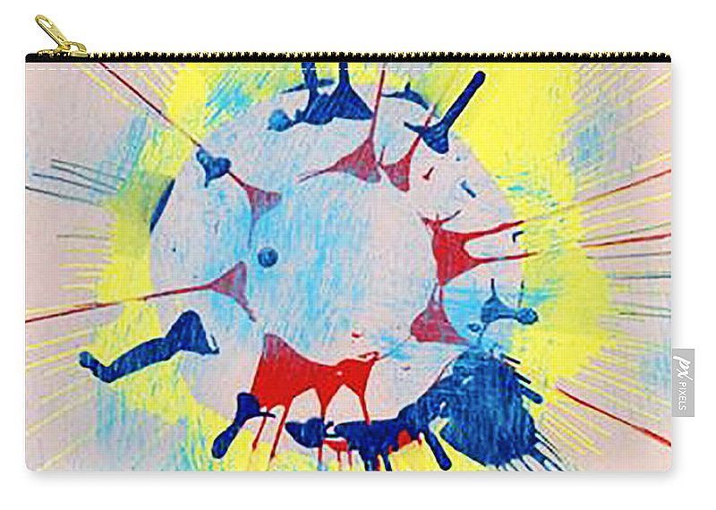 Carry-all Pouch featuring the mixed media Trustworthy by Luz Elena Aponte