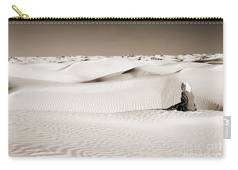 Desert Carry-all Pouch featuring the photograph Tuareg by Delphimages Photo Creations