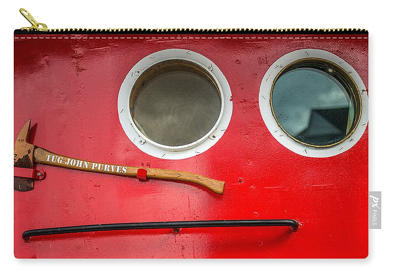 Carry-all Pouch featuring the photograph Tug Boat Eyes by Paul Freidlund