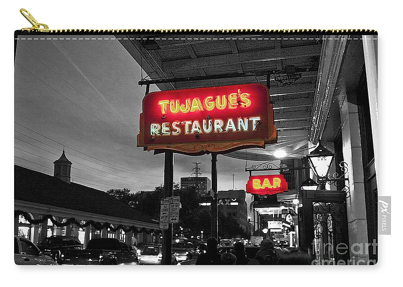 Vieux Carre Carry-all Pouch featuring the photograph Tujague's by Scott Pellegrin