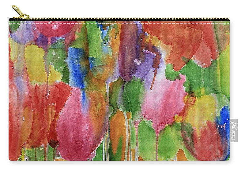 Tulip Carry-all Pouch featuring the painting Tulip Palooza by Rhonda Leonard