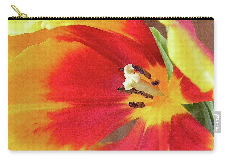 Tulip Carry-all Pouch featuring the photograph Tulip Warm Tones by Sandi OReilly