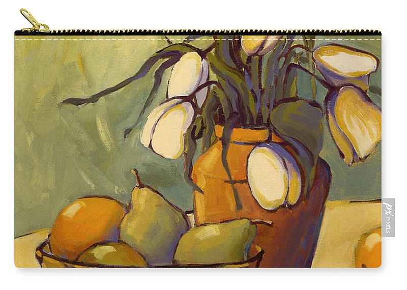 Tulips Carry-all Pouch featuring the painting Tulips 2 by Konnie Kim