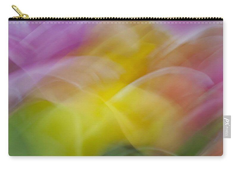 Creative Carry-all Pouch featuring the photograph Tulips Abstract by Susan Candelario