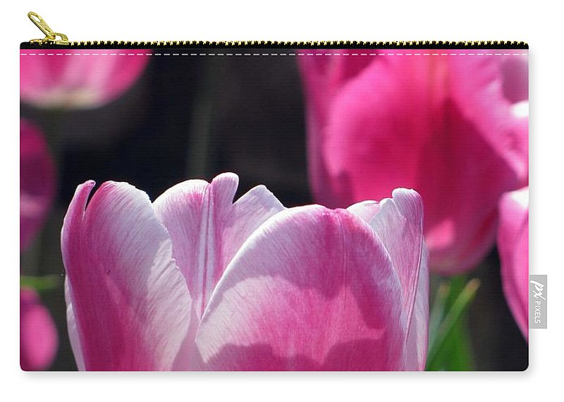 Tulip Carry-all Pouch featuring the photograph Tulips - Affectionately Yours 02 by Pamela Critchlow