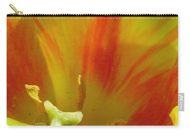 Tulip Carry-all Pouch featuring the photograph Tulips - Cheerful Energy 06 by Pamela Critchlow