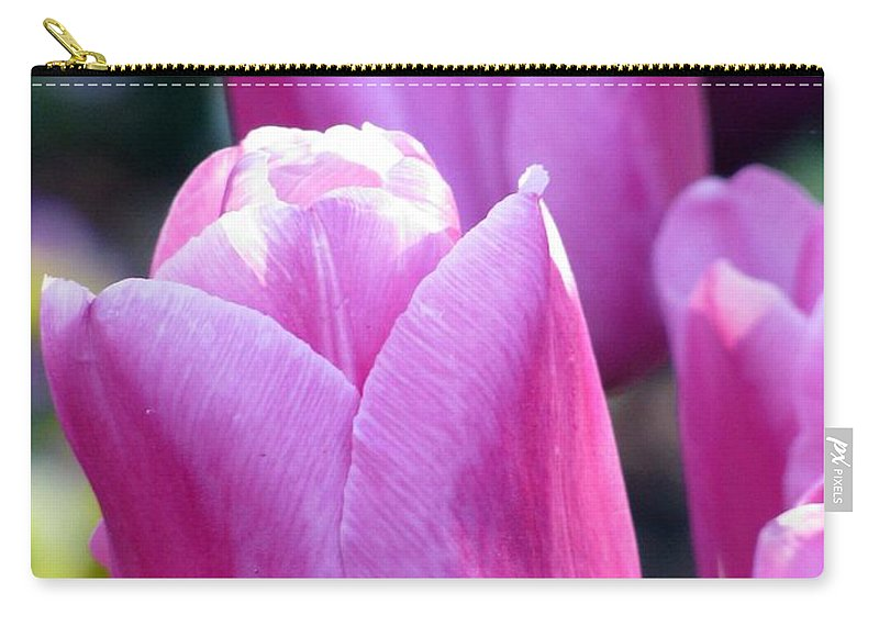 Tulip Carry-all Pouch featuring the photograph Tulips - Field With Love 05 by Pamela Critchlow