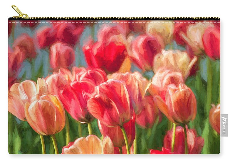 Tulips Carry-all Pouch featuring the photograph Tulips by Sylvia Rourke