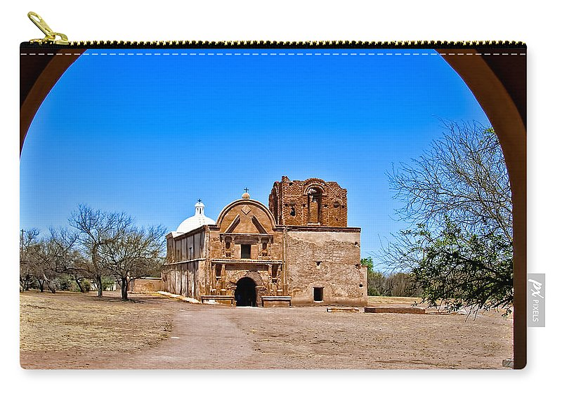 Arch Carry-all Pouch featuring the photograph Tumacacori by Maria Coulson