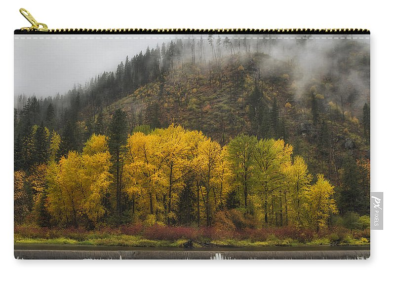 Autumn Carry-all Pouch featuring the photograph Tumwater Canyon by Mark Kiver