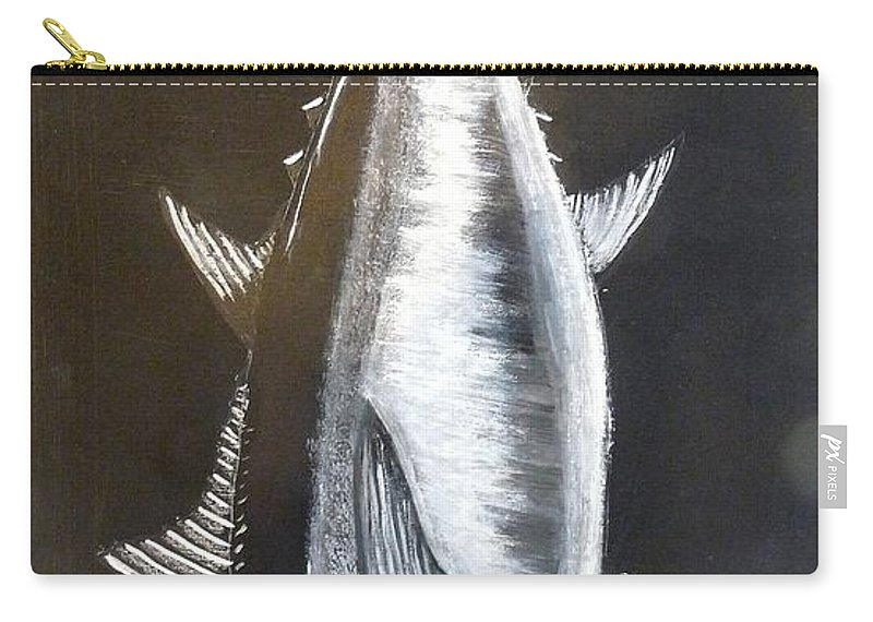 Tuna Carry-all Pouch featuring the painting Tuna by Richard Le Page