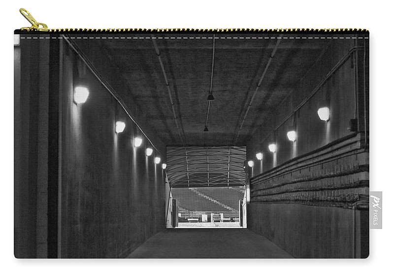 Green Bay Carry-all Pouch featuring the photograph Tunnel Of Heroes 2 by Tommy Anderson