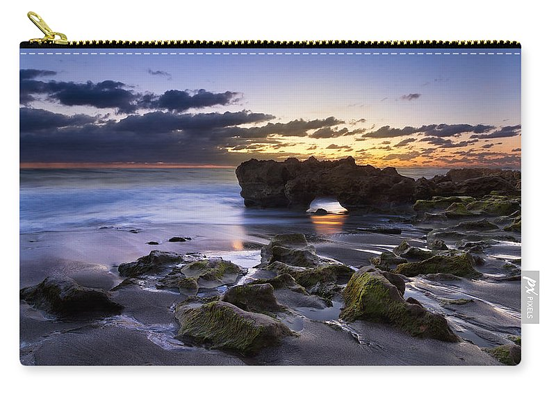 American Carry-all Pouch featuring the photograph Tunnel Of Light by Debra and Dave Vanderlaan