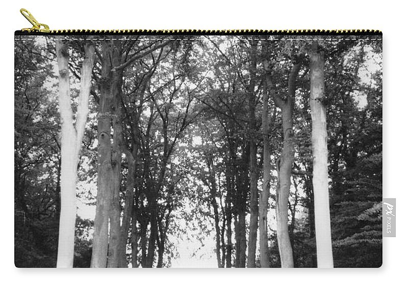 Trees Carry-all Pouch featuring the photograph Tunnel Of Trees by Christine Jepsen