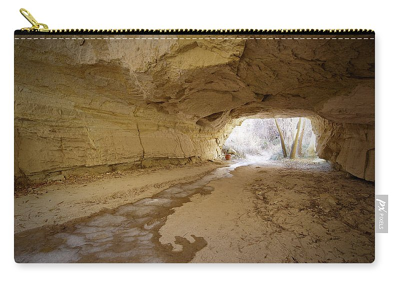 Mineral Carry-all Pouch featuring the photograph Tunnel by Sandsun