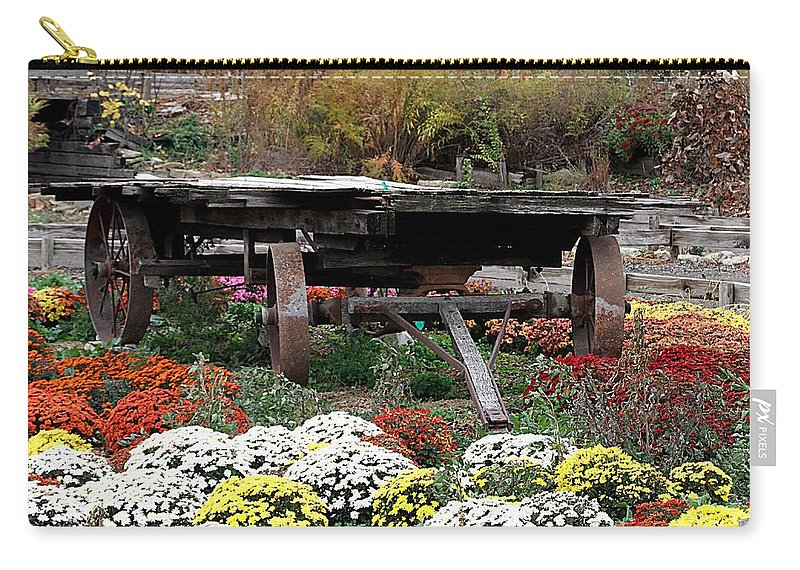 Wooden Tunnel Carry-all Pouch featuring the photograph Tunnel To Fall by Elizabeth Winter