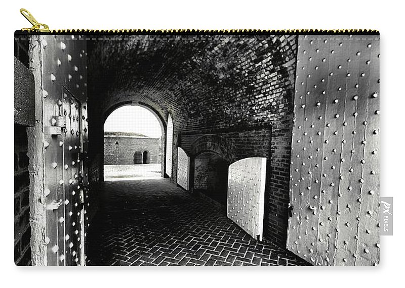 Architectural Art Carry-all Pouch featuring the photograph Tunnel Vision by Robert McCubbin
