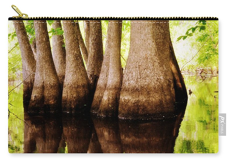Swamp Carry-all Pouch featuring the photograph Tupelos by Marty Koch