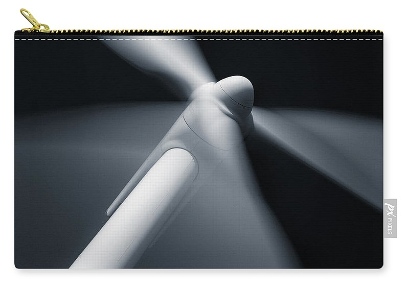 Wind Turbine Carry-all Pouch featuring the photograph Wind Turbine by Dave Bowman