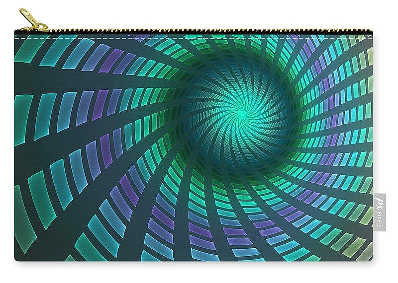 Digital Art Carry-all Pouch featuring the digital art Turbine by Gabiw Art