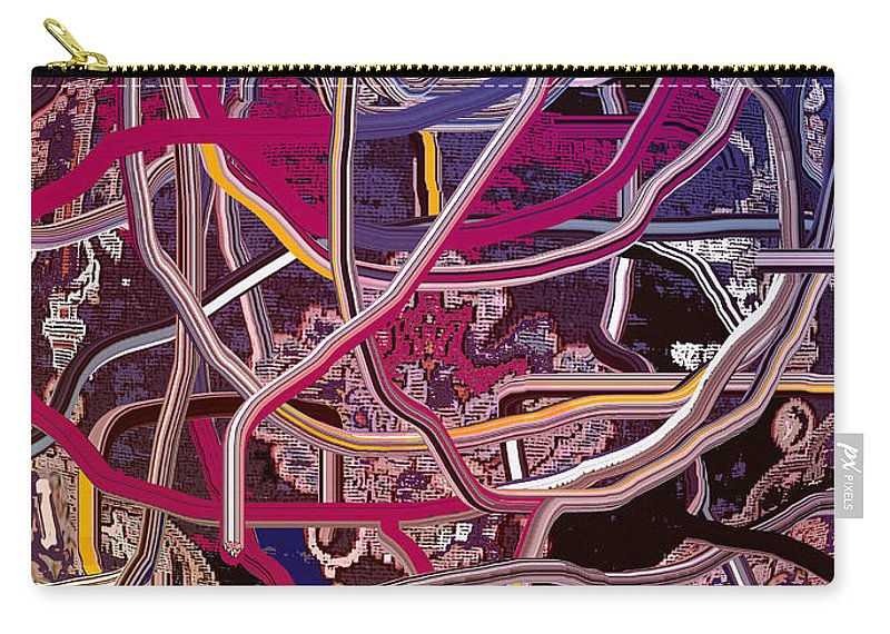 Abstract Carry-all Pouch featuring the digital art Turkish Carpet Revisited by Ian MacDonald