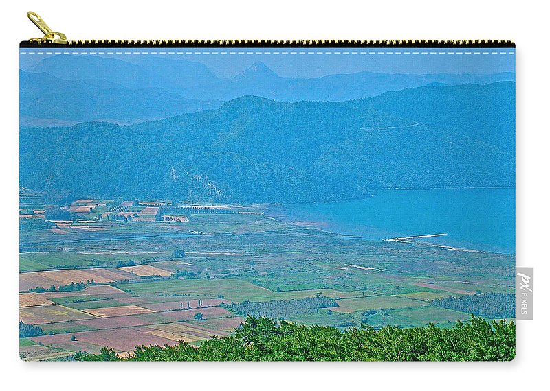 Turkish Farms Along The Aegean Sea Carry-all Pouch featuring the photograph Turkish Farms Along The Aegean Sea by Ruth Hager