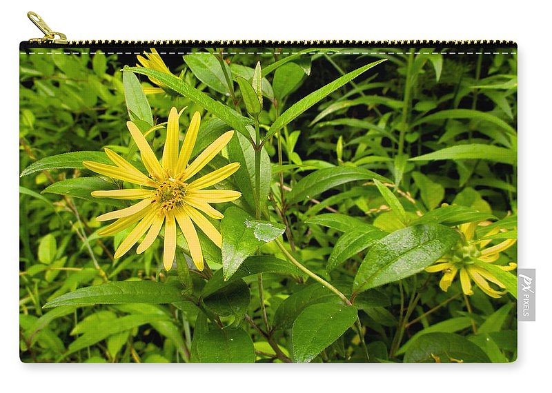 Yellow Carry-all Pouch featuring the photograph Turning Yellow by Kendall Kessler