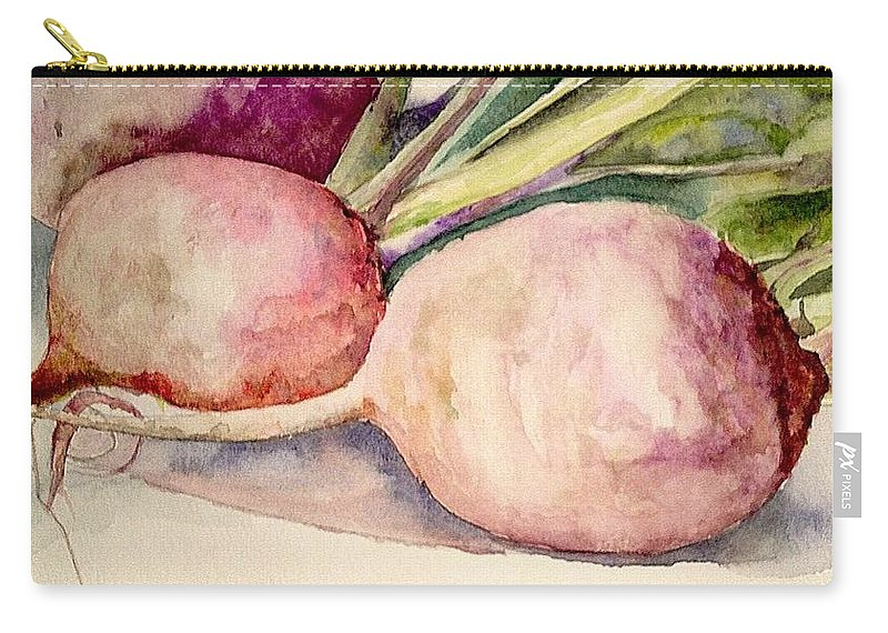 Turnip Carry-all Pouch featuring the painting Turnips by Nicole Curreri