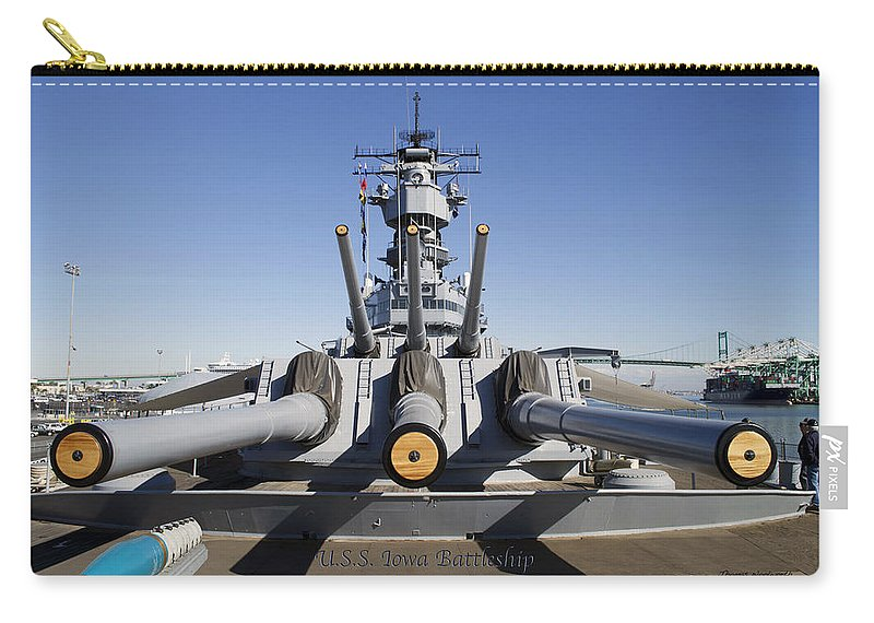 Turrets 1 And 2 Uss Iowa Battleship Shell Carry-all Pouch
