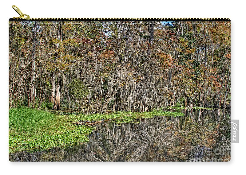 Nature Carry-all Pouch featuring the photograph Turtle Haven by Deborah Benoit