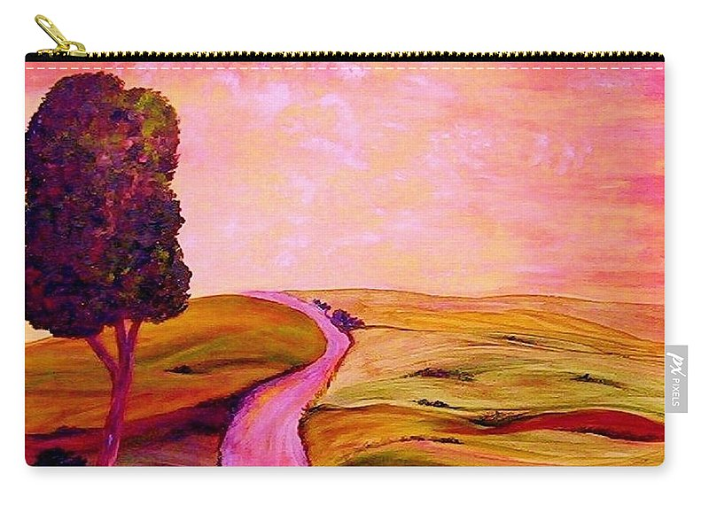 Tuscany Carry-all Pouch featuring the painting Tuscan Skies ... An Impressionist View by Eloise Schneider