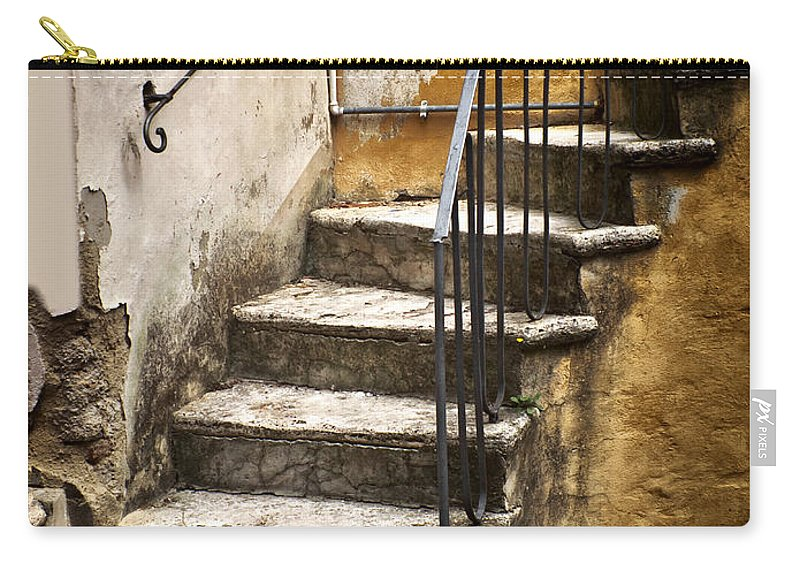 Tuscan Carry-all Pouch featuring the photograph Tuscan Staircase by Mike Nellums