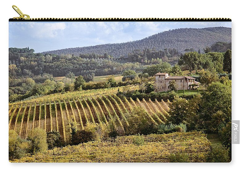 Tuscany Carry-all Pouch featuring the photograph Tuscan Valley by Dave Bowman