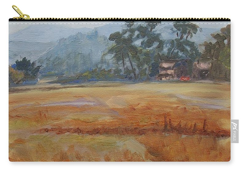 Landscape Carry-all Pouch featuring the painting Tuscany Flashback4 by Elena Sokolova