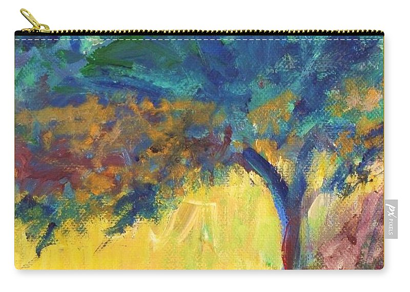 Tuscany Carry-all Pouch featuring the painting Tuscany Hill Side Shadows by Eric Schiabor