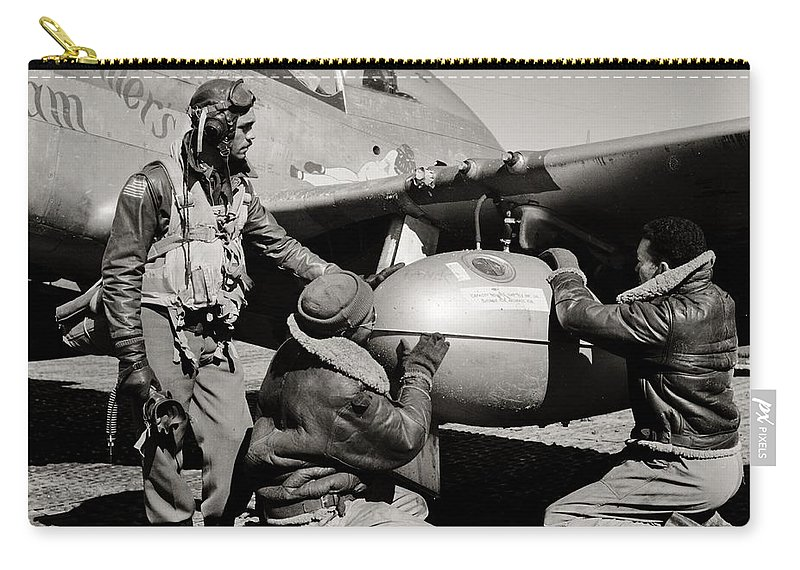 Tuskegee Carry-all Pouch featuring the photograph Tuskegee Preflight by Benjamin Yeager