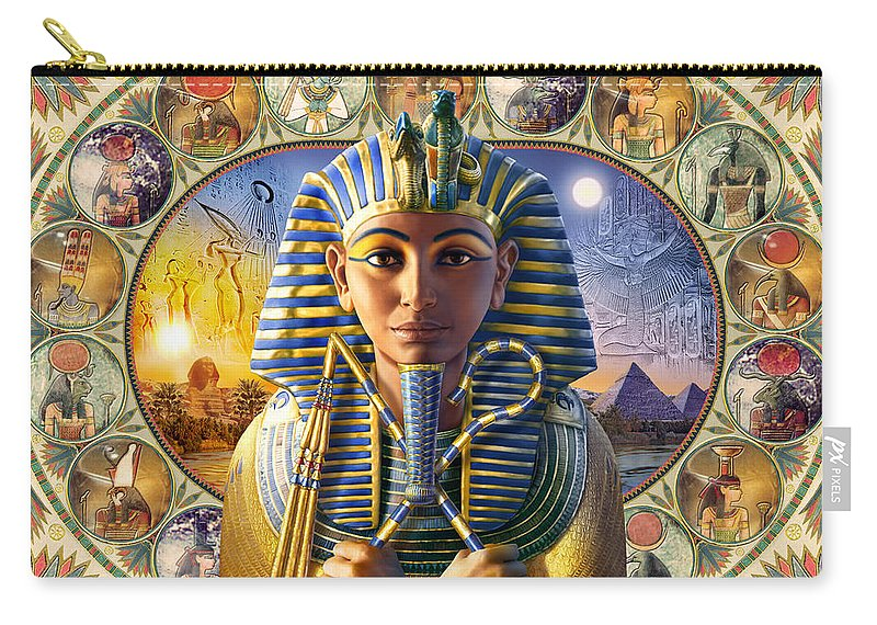 Andrew Farley Carry-all Pouch featuring the photograph Tutankhamun Landscape by MGL Meiklejohn Graphics Licensing