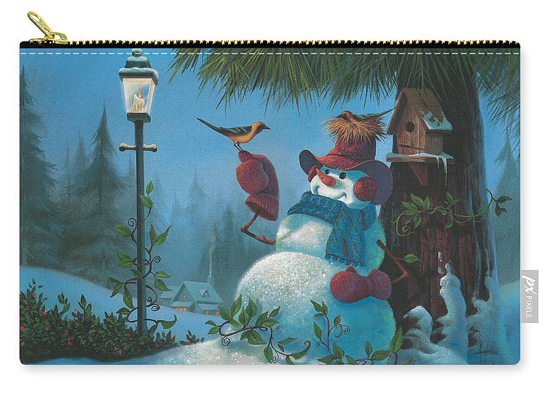 Michael Humphries Carry-all Pouch featuring the painting Tweet Dreams by Michael Humphries