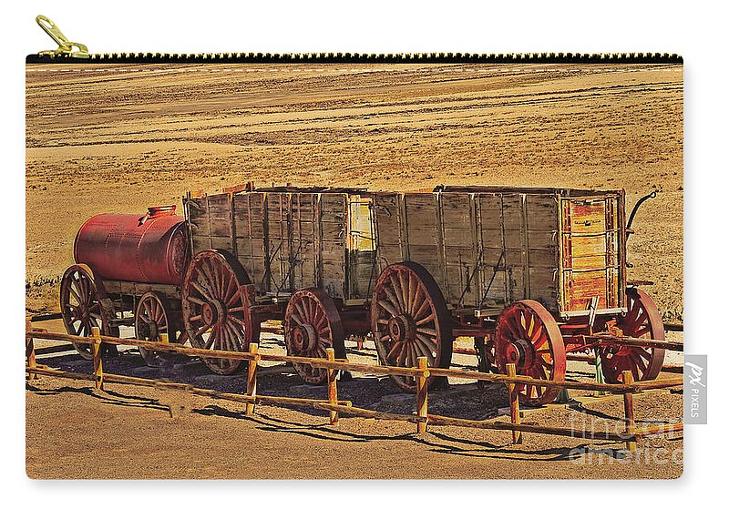 Mules Carry-all Pouch featuring the photograph Twenty-mule Team In Sepia by Robert Bales