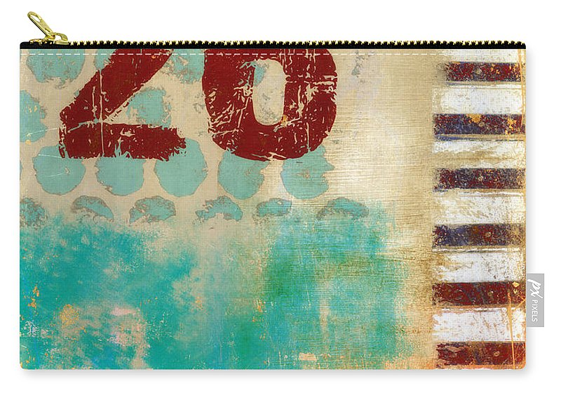 Number Carry-all Pouch featuring the photograph Twenty-six Stripes by Carol Leigh