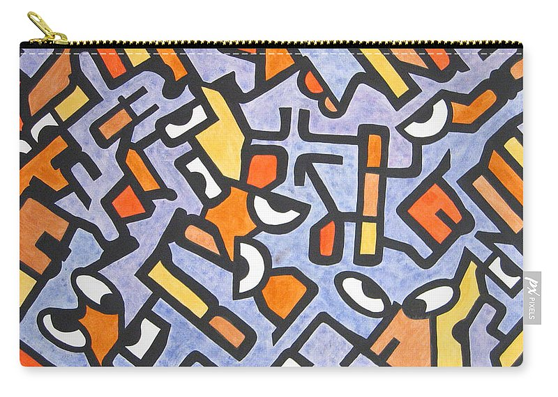 Abstract Carry-all Pouch featuring the painting Twenty Twenty by Barb Meade