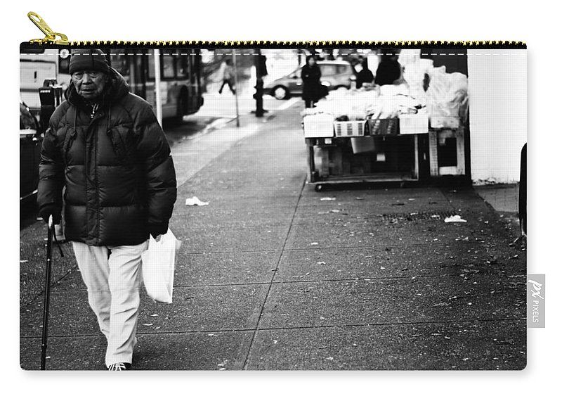 Street Photography Carry-all Pouch featuring the photograph Twenty Two Bottles by The Artist Project