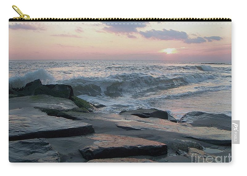 Twilight Carry-all Pouch featuring the photograph Twilight At Cape May In October by Eric Schiabor