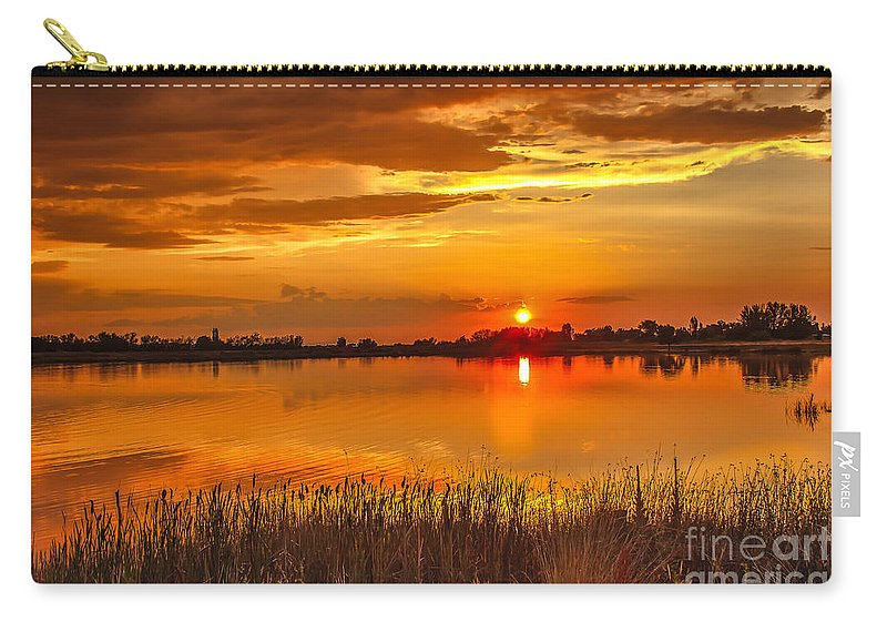 Sunset Carry-all Pouch featuring the photograph Twilight At The Best by Robert Bales
