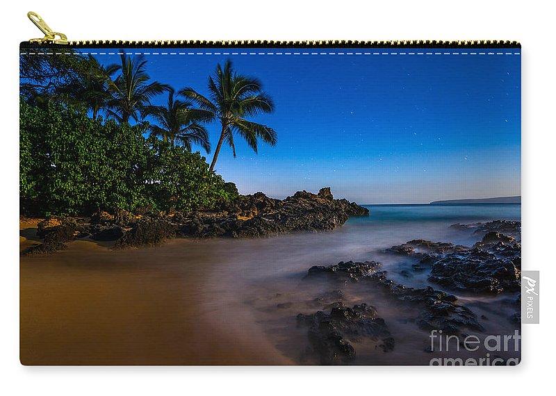Secret Beach Carry-all Pouch featuring the photograph Twilight Beach by Jamie Pham