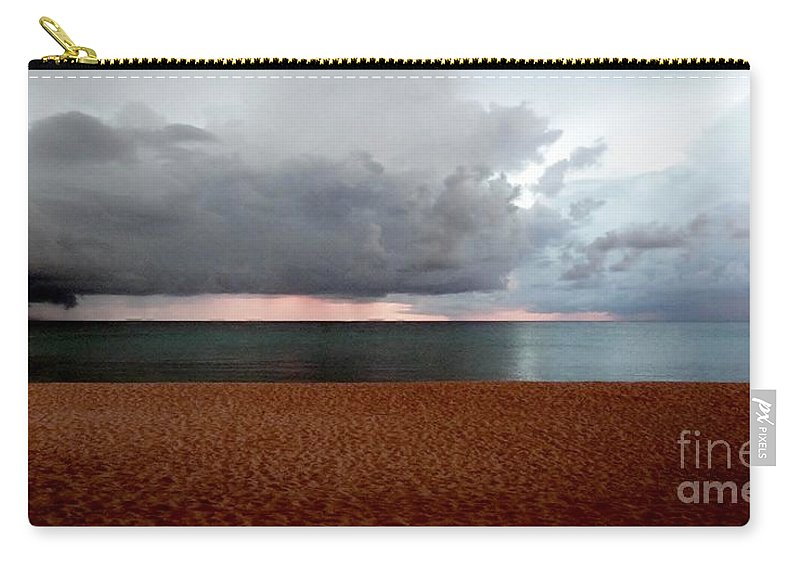Color Carry-all Pouch featuring the photograph Twilight Chase by Amar Sheow