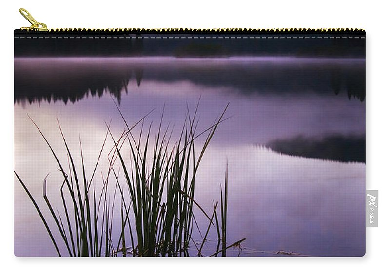 Lake Carry-all Pouch featuring the photograph Twilight Glow by Mike Dawson